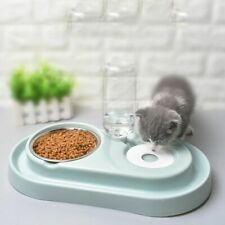 Pet Water Feeder Bowl Cat Kitten Drinking Fountain Food Dish Automatic Plastic