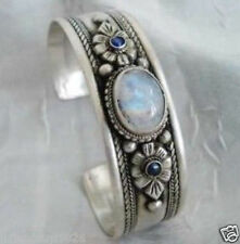 Fancy!!! Tibet Silver rare Moonstone Jewelry Bracelet