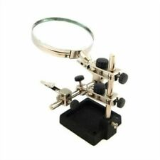 Heavy Duty Helping Hand 'third Hand' With 90mm Magnifying Glass Toolzone HB238