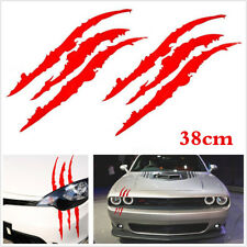 Red 2PCS Scratch Decal Monster Claw Marks Car Vinyl Decal Eye Catching Sticker