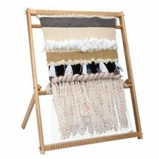 Weaving Loom Kit Large With Stand , Wooden Looming Set Tapestry Loom Kit Us