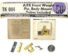 Vintage HO Slot Car SPEED PARTS AJ's TWINN-K AFX WEIGHT KIT LEXAN BODY MOUNT 004