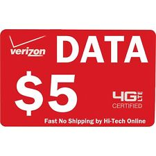 VERIZON $5 DATA REFILL PREPAID OR Mi-Fi HOT SPOT > 25yr TRUSTED USA SELLER <