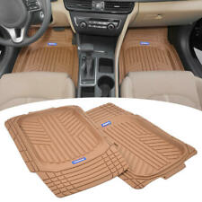 ACDelco Deep Dish Rubber All Season Floor Mats for Snow Water Car Van SUV Beige