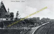 Balerno Railway Station Photo. Currie - Ravelrig. Edinburgh to Midcalder. (1)