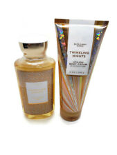 bath and body works twinkling nights body cream and shower gel full size set