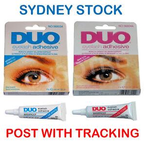 DUO Waterproof Eyelash Glue False Eyelash Adhesive White Clear / Dark Black