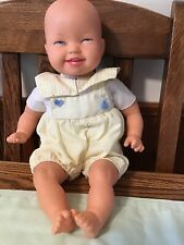 """Vtg 1996 Unimax 14"""" Baby Doll Vinyl Molded Head Legs Arms Soft Body w/1pc Outfit"""