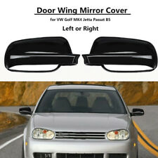 Gloss Black Mirror Cover Casing Decor Replacement for VW Jetta MK4 Bora Passat