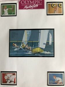 1988 Seoul OLYMPIC GAMES Portugal Team Stamps MINT