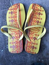 "Havaianas ""Flash"" Style Flip Flops Size 39-40 Lightly Used"