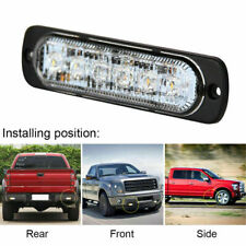 4PCS 6LED Emergency Beacon Warning Hazard Flash Strobe Car Truck Light Bar Red