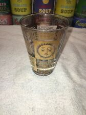 Vintage Mid Century Modern 1960s Georges Briard Gold Double Shot Glass Htf