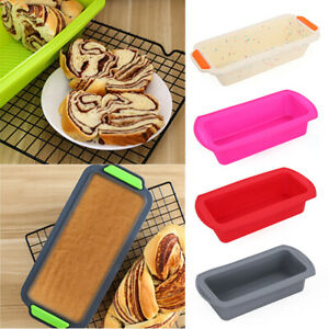 Silicone Loaf Mould Tin Non Stick Rectangle Baking Oven Pan Tray Bread Mold*