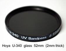 Hoya U-340 52mm x 2mm thick UV Pass Ultraviolet Dual Band IR Filter