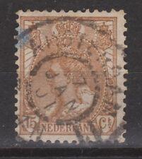 NVPH Netherlands Nederland 64 TOP CANCEL AMSTERDAM Wilhelmina bontkraag 1899