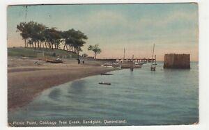 Queensland Picnic Point Cabbage Tree Creek Sandgate postcard circa 1910