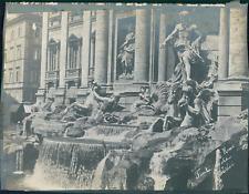 Italie, Rome, La Fontaine de Trevi, ca.1910, vintage silver print Vintage silver