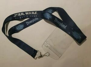 Disneyland Resort  Star Wars Galaxy's Edge  Lanyard with closure blue on blue