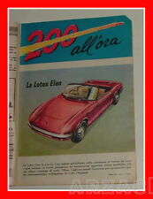 LOTUS ELAN - 200 ALL'ORA 1964 Intrepido N 33 Universo