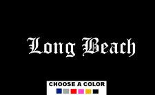 "Long Beach California LBC 7"" Logo Vinyl Decal Sticker LB State University City"