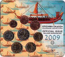 ESCASO BLISTER OFICIAL GRECIA 2009 CON 2 EUROS NORMAL.