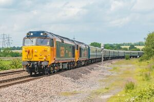 Large Canvas Of GBRF Class 50, 50007, Train, Railway, Art, Print, 50049