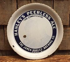 Antique Pre-Prohibition HANLEY'S Peerless Ale Porcelain Beer Tray Providence RI