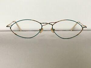 Glasses Vintage Ladies Turquoise Teal Fine Made IN Austria 80er 90er Size M