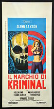 IL MARCHIO DI KRIMINAL LOCANDINA CINEMA SAXSON THRILLER SEX DIABOLIK MANIFESTO 9