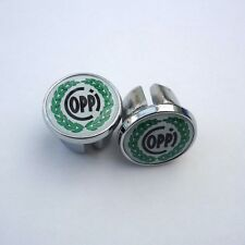 Vintage Style, Fausto Coppi, Chrome Racing Bar Plugs, Caps, Repro