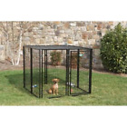 5 ft. x 5 ft. x 4 ft. Boxed Kennel Durable Steel With Sunblock Top Cottageview