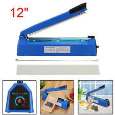 "12"" Heat Sealing Hand Impulse Sealer Machine Poly Free Element Plastic Sealer ❤"