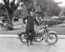 Photograph of a Metropolitan Police Officer & his Motorcycle Year 1932  8x10