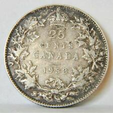 CANADA George V: 1933 silver 25 Cents, attractive toned XF