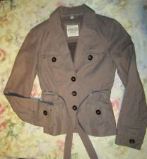 Esprit Herringbone Belted Jacket - Gray - 0 XS