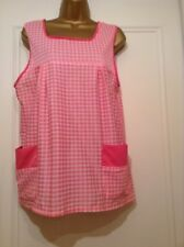 "Vintage Nylon Overall Gingham Size WX Pink Gingham 38-40"" Chest"