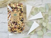 2 Litres Biodegradable Mixed Rose Petal Confetti with 24 Cones 24-48 Guests