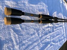 "2 lews hank parker signature speed stick casting rods 6'10"" med action fast"