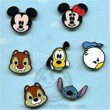 FACES of MICKEY+ FRIENDS CUTE Cutie CHARACTERS MINI Set 7 DISNEY PINS NEW NIP