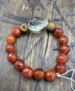 Barse  Athena Stretch Bracelet-Druzy Pyrite, Carnelian & Citrine- NWT