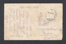 EGYPT 1918 WWI FIELD POST OFFICE 180 CENSORED CAIRO POSTCARD TO ESSEX ENGLAND