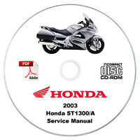 Honda ST1300 Pan European 2003 Service Manual CD