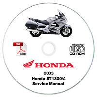 Honda ST1300 Pan European 2003 Service Manual CD