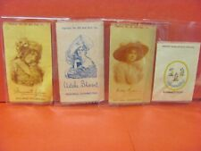 Vintage Four Antique Old Mill Cigarettes Advertisement Actress Star Silk Tobacco