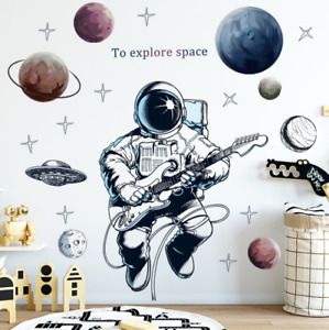 Wall Stickers Space Astronaut Removable Decor Baby Kids Nursery DIY Gift