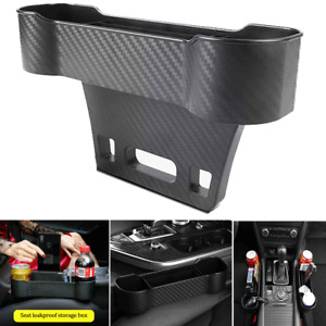 Carbon Fiber Look Auto Car Seat Gap Catcher Crevice Pocket Storage Box Organizer