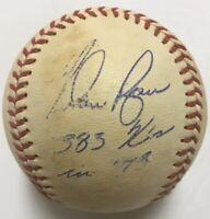 NOLAN RYAN 2x Signed Autographed Reach OAL Baseball w/383 Ks in 1973+ Hologram