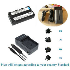 NP-F550 Battery + Travel and Car Charger for Sony NP-F570 NP-F330 NP-F550