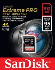SanDisk 512gb Extreme Pro SD SDXC 95mb/s Class 10 U3 4k Storage Memory Card